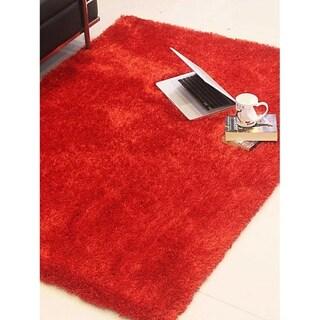 Modern Solid Color Indian Shag Carpet Hand Tufted Oriental Area Rug