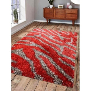 Transitional Animal Print Carpet Indian Hand Tufted Oriental Shag Rug