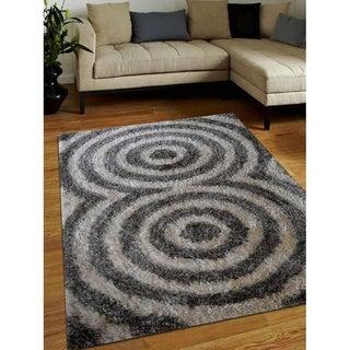 Hand Tufted Modern Oriental Polyester Shag Carpet Indian Area Rug