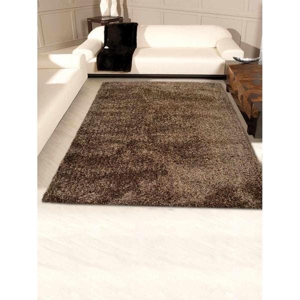 Modern Hand Tufted Shag Solid Color Carpet Indian Oriental Area Rug