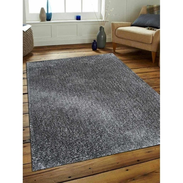 Hand Tufted Shag Solid Color Carpet Modern Indian Oriental Area Rug