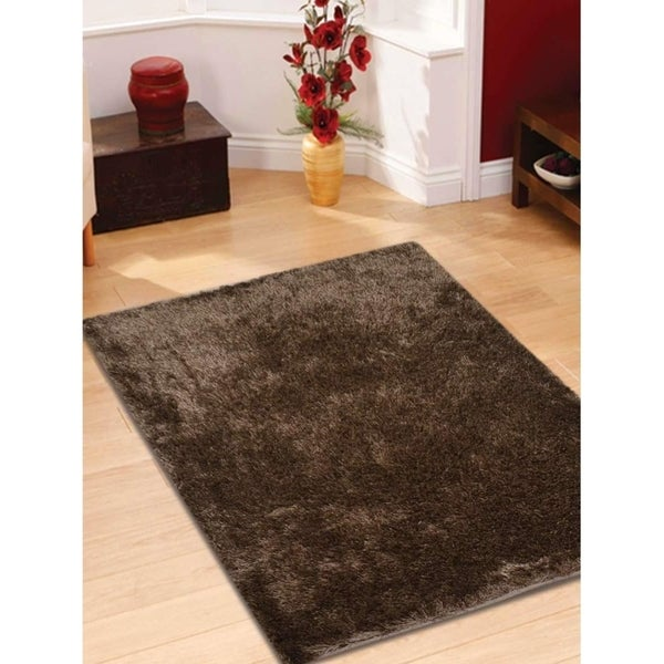 Solid Color Hand Tufted Shag Modern Carpet Indian Oriental Area Rug