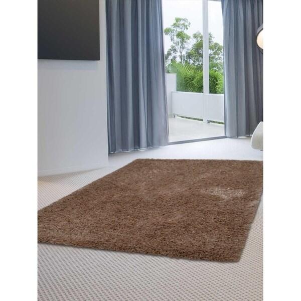 Hand Tufted Shag Modern Area Rug Solid Color Indian Oriental Carpet