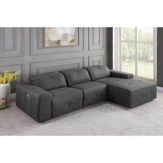 Ramos Grey 3-Piece Upholstered Power Sectional