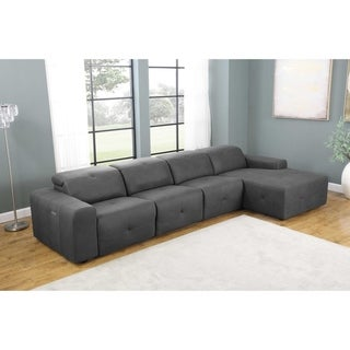 Ramos Grey 4-Piece Upholstered Power Sectional