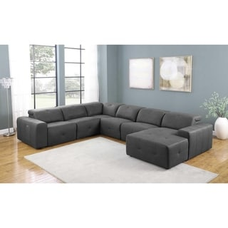 Ramos Grey 6-Piece Upholstered Power Sectional