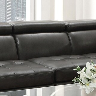 Ventisette Charcoal Tufted Seat Armless Chair