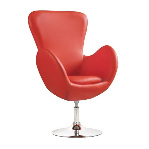 Super Hadzi Red High Back Curved Arm Swivel Accent Chair Ibusinesslaw Wood Chair Design Ideas Ibusinesslaworg