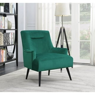Mazurek Green Upholstered Accent Chair with Angled Legs
