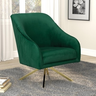 Carson Carrington Pattebo Sloped Arm Swivel Base Accent Chair
