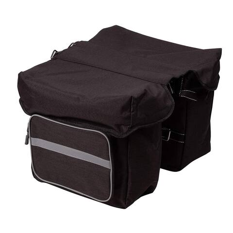 Juvale Bicycle Pannier - Bike Pannier Bag with Adjustable Hooks, Bike Panniers