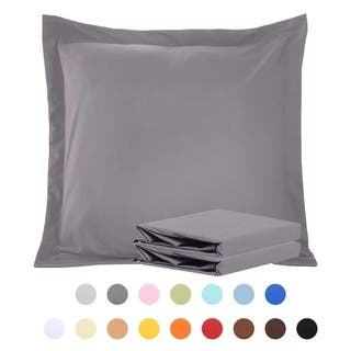 NTBAY 100% Brushed Microfiber European Square Throw Pillow Cushion Cover Set of 2
