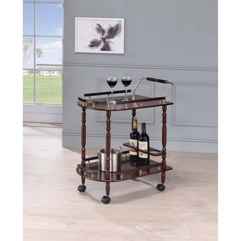 Costillo Merlot and Brass 2-shelf Serving Cart