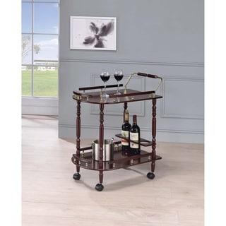 Costillo Merlot and Brass 2-shelf Serving Cart