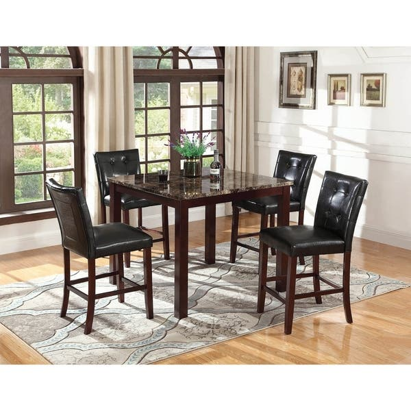 Deanna Dark Brown Square Dining Table