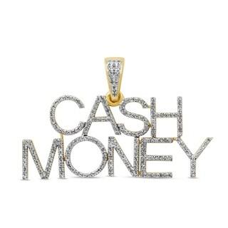 Unending Love 10K Yellow Gold 1/2ct. TDW Diamond Charms Pendant Necklace