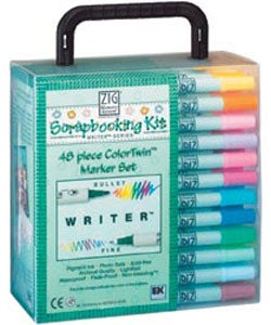 Zig ColorTwin 48-piece Marker Set - Thumbnail 0