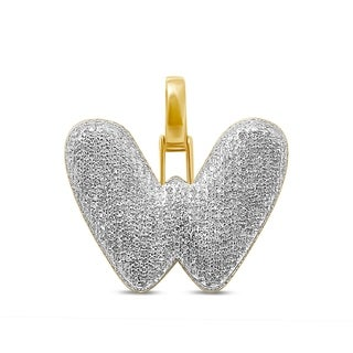 Unending Love 10K Yellow Gold 3/4ct. TDW Diamond 'W' Initial Pendant Necklace