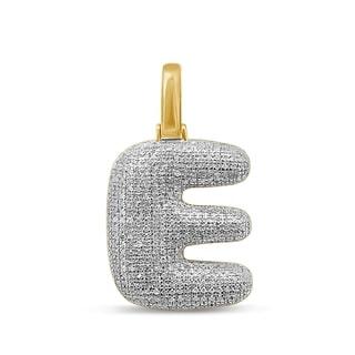 Unending Love 10K Yellow Gold 5/8ct. TDW Diamond 'E' Initial Pendant Necklace