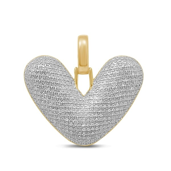Unending Love 10K Yellow Gold 5/8ct. TDW Diamond 'V' Initial Pendant Necklace