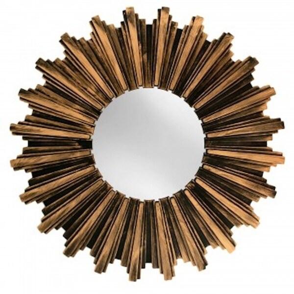 Wall Mirror Antiqued Bronze Sunburst Wall Mirror