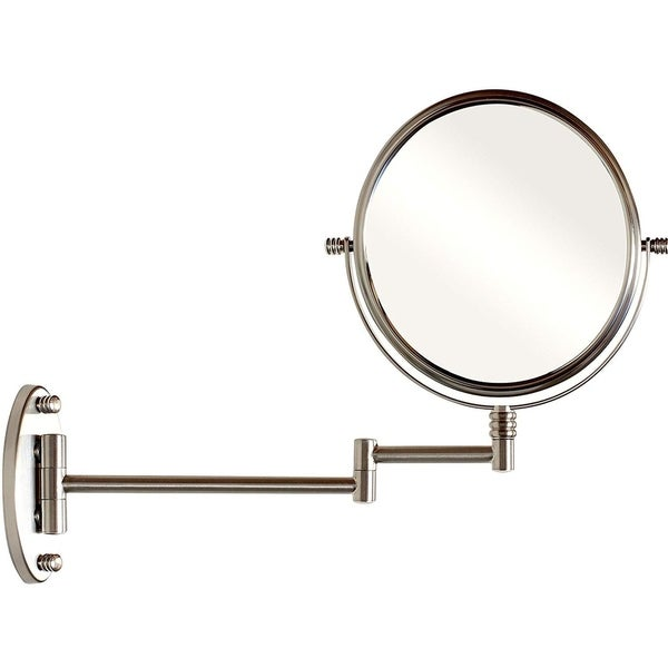 9.8-Inch Two-Sided Swivel Wall Mount Mirror with 7x Magnification
