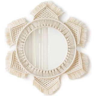 Round Mirror Decor for Apartment Living Room
