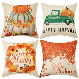 Maple Leaf Autumn Theme Decor Pillow Cushion Cases