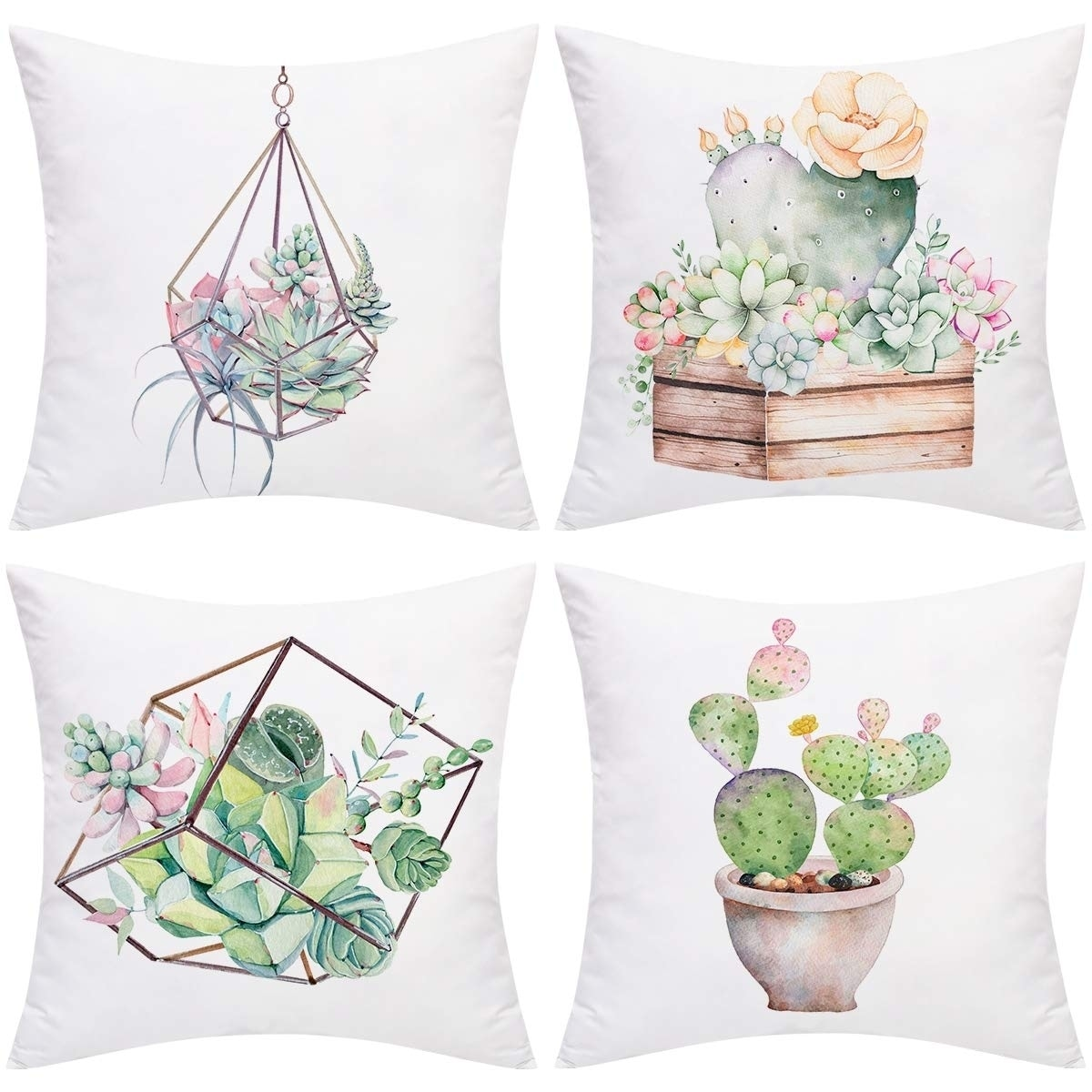 Shop Plants Potted Throw Pillow Cases Cushion Covers Zippered