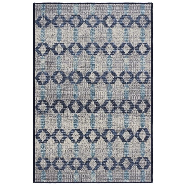 RugSmith Grey Tampala Contemporary Geometric Area Rug, 3' x 5'