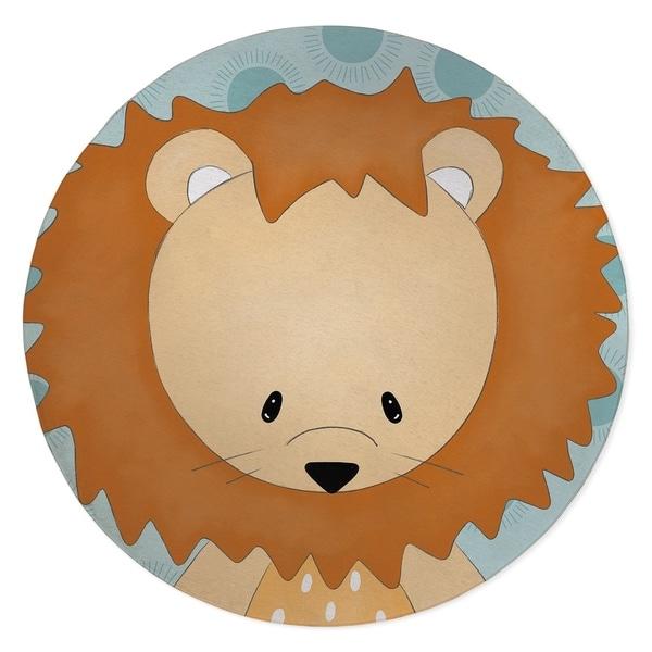 LION TEAL Area Rug By Kavka Designs