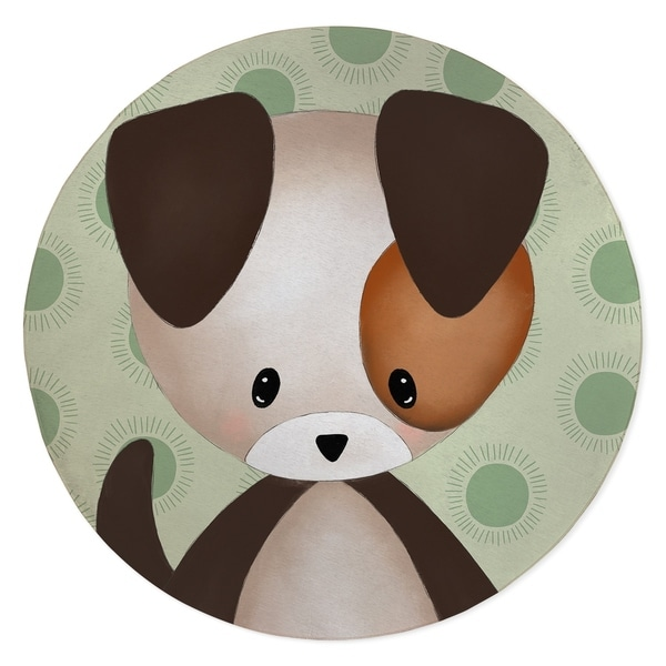 PUPPY BABY GREEN Area Rug By Kavka Designs