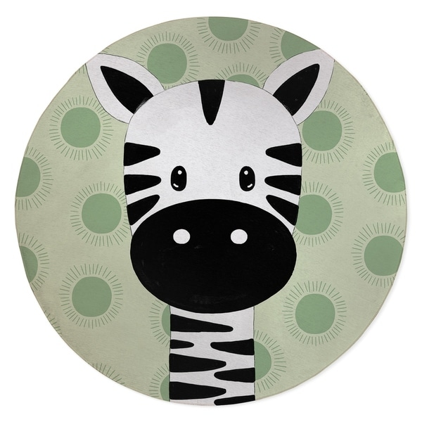 ZEBRA BABY GREEN Area Rug By Kavka Designs