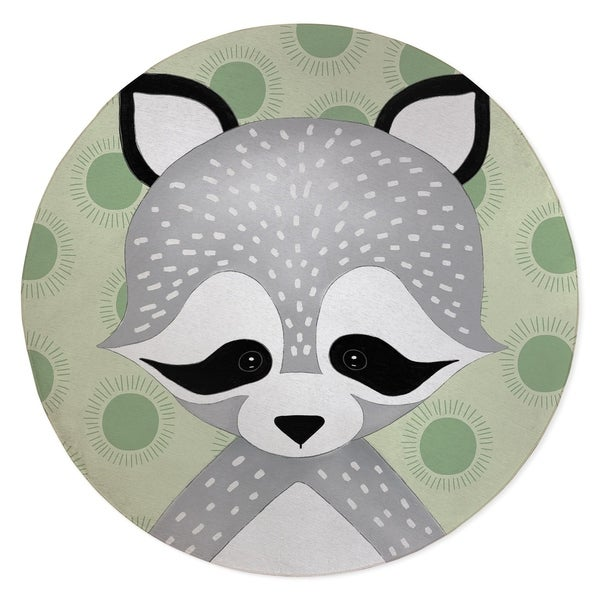 RACOON BABY GREEN Area Rug By Kavka Designs