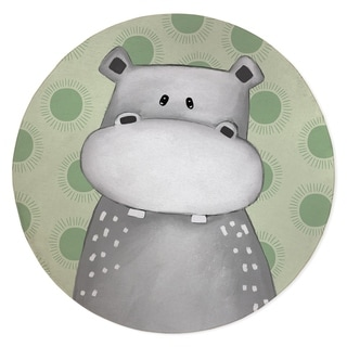HIPPO BABY GREEN Area Rug By Kavka Designs