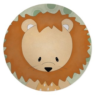 LION BABY GREEN Area Rug By Kavka Designs