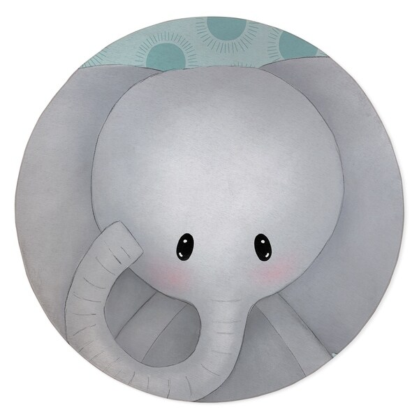 ELEPHANT TEAL Area Rug By Kavka Designs