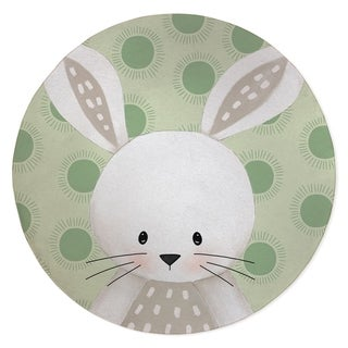 BUNNY BABY GREEN Area Rug By Kavka Designs