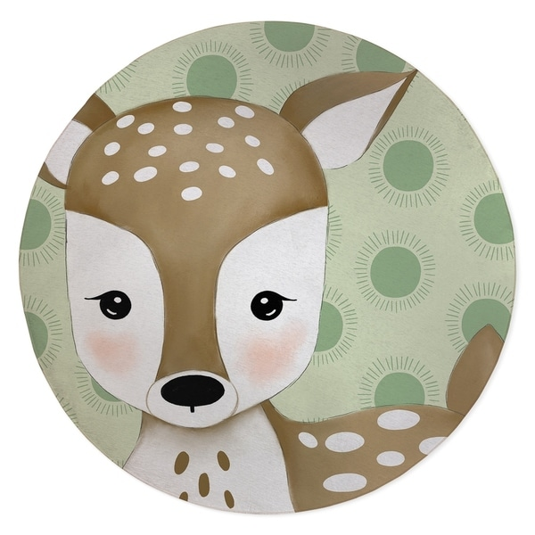 DEER BABY GREEN Area Rug By Kavka Designs