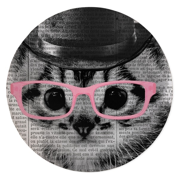 CAT IN PINK GLASSES Area Rug By Kavka Designs