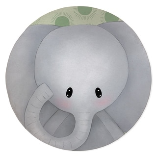 ELEPHANT BABY GREEN Area Rug By Kavka Designs