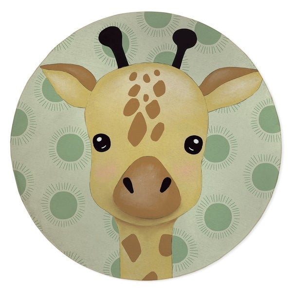GIRAFFE BABY GREEN Area Rug By Kavka Designs