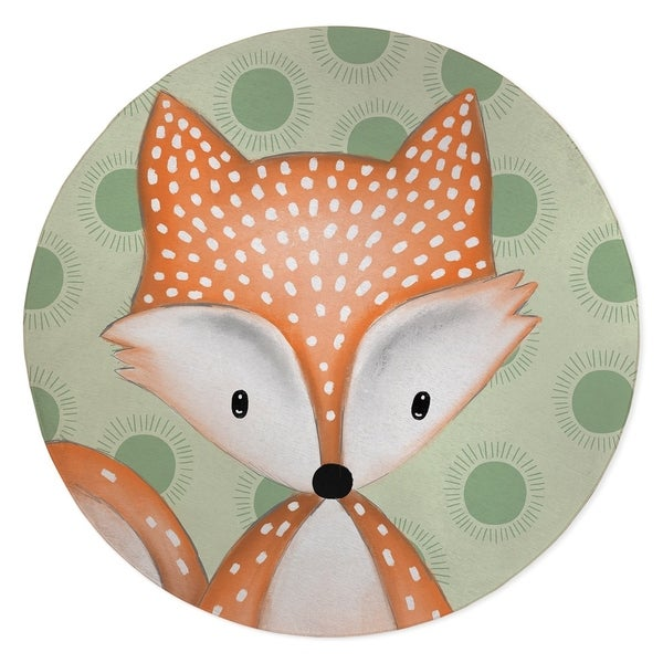 FOX BABY GREEN Area Rug By Kavka Designs