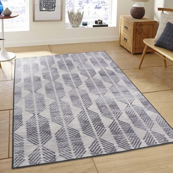 RugSmith Grey Zanzibar Distressed Transitional Area Rug, 5' x 7' - 5' x 8'/Surplus