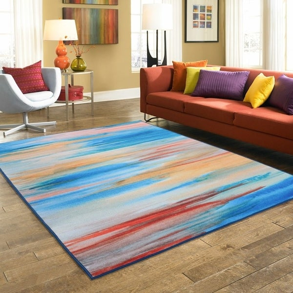 RugSmith Yellow Tulum Contemporary Modern Area Rug, 5' x 7' - 5' x 8'/Surplus
