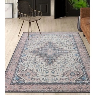 RugSmith Sand Corinth Distressed Vintage Inspired Area Rug, 5' x 7' - 5' x 8'/Surplus