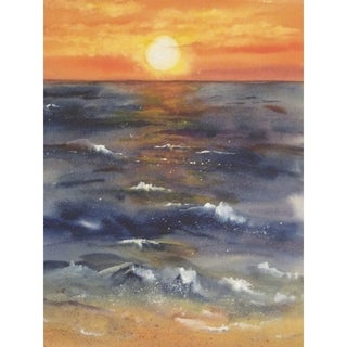 CANVAS California Dreaming Sunset by Kate Wyman Art Painting Reproduction