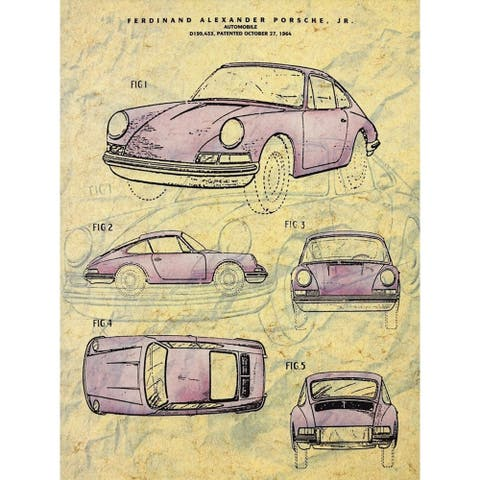 CANVAS Vintage 1964 Car Porsche Automobile Vintage Advertisement Print