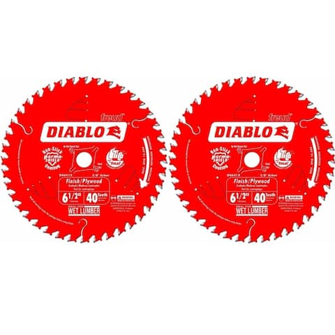 """Diablo D0641X 6-1/2 by 40 Finishing Saw Blade 5/8-Inch Arbor (2 Pack) - 6-1/2"""""""