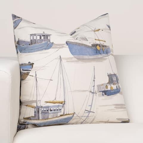 Porch & Den Lousignant Vintage Boat Design Throw Pillow
